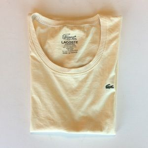 Lacoste T-shirt Light yellow Used Sz S